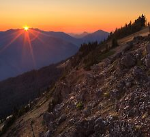 Sunset on Olympic National Park from Hurricane Hill by DArthurBrown