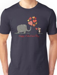 Elephant and Mouse Story of Love Valentine 2017 T-Shirt Unisex T-Shirt