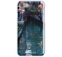 Impressions Of Venice - Canal Reflections Colorful Facades and a Charming Christmassy Bridge iPhone Case/Skin