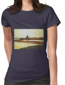 Wind Mill Womens Fitted T-Shirt