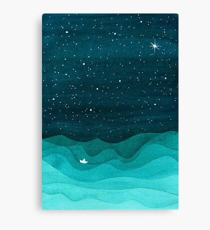 Paper Waves Canvas Print