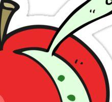 cartoon sliced apple Sticker