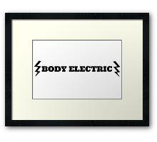 Lana Del Rey Body Electric Framed Print