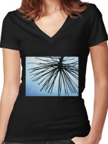 Brush The Sky Women's Fitted V-Neck T-Shirt