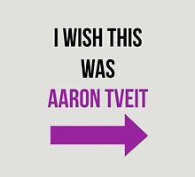 I Wish This Was Aaron Tveit Womens Fitted T-Shirt
