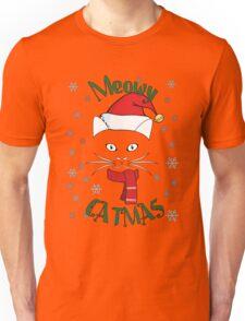 Meowy Catmas Merry Christmas Unisex T-Shirt