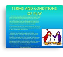 Club Penguin T&C's Canvas Print