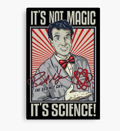 Official Bill Nye - It's Science Shirt Canvas Print