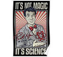 Official Bill Nye - It's Science Shirt Poster