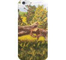 Log and Barbed Wire iPhone Case/Skin