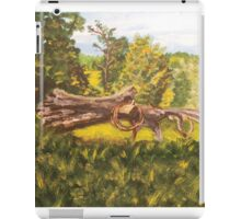 Log and Barbed Wire iPad Case/Skin