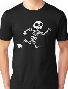 run skeleton skull Unisex T-Shirt