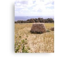 Maltese Stone Hut Canvas Print