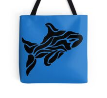 Ink Orca Whale Swimming Tote Bag