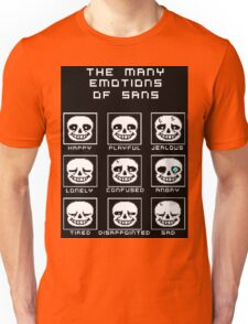 The Many Emotions Of Sans - Undertale Unisex T-Shirt