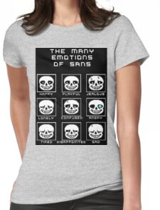 The Many Emotions Of Sans - Undertale Womens Fitted T-Shirt
