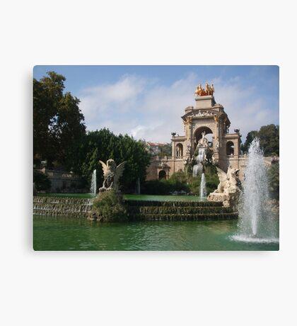 Parc de la Ciutadella - Cascada Canvas Print