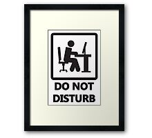 Gaming - DO NOT DISTURB Framed Print