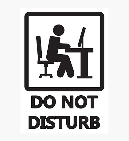 Gaming - DO NOT DISTURB Photographic Print