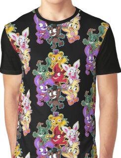 Five Nights at Freddys 1-4 Chibi Graphic T-Shirt