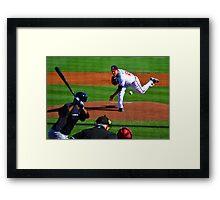 Braves VS Yankees Disney World March 2013 Framed Print