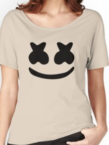 Marshmello Black Women's Relaxed Fit T-Shirt