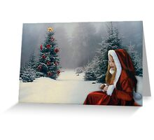 White Winter Hymnal Greeting Card