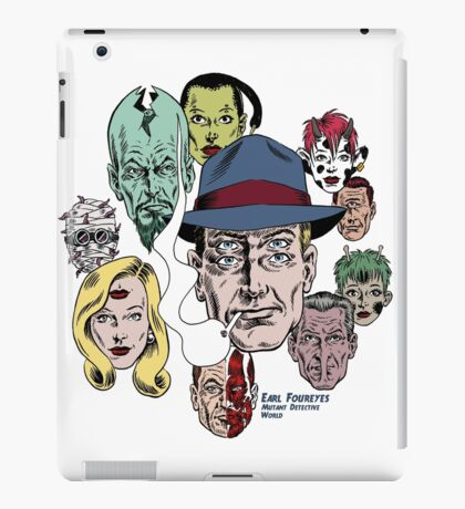 Earl Foureyes Mutant Detective World iPad Case/Skin