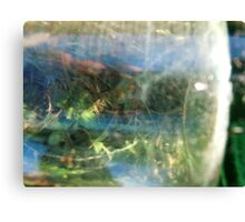Abstract from antique beer bottle Canvas Print