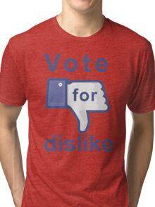 Facebook Dislike Tri-blend T-Shirt