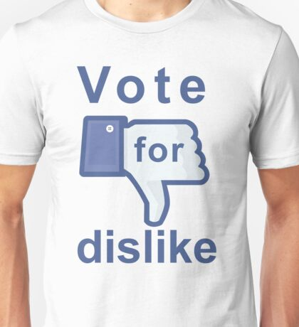 Facebook Dislike Unisex T-Shirt