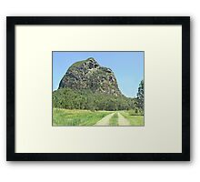 Track towards Tibro Framed Print