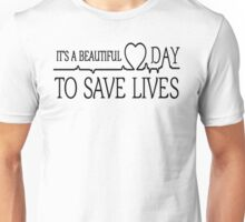 Derek Shepherd - It's a beautiful day to save lives T shirt  Unisex T-Shirt