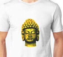 Buddha head gold Unisex T-Shirt