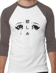 Anime Eyes Men's Baseball ¾ T-Shirt