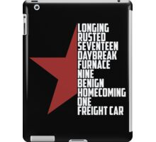 winter soldier - ready to comply iPad Case/Skin
