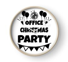 office christmas party Clock
