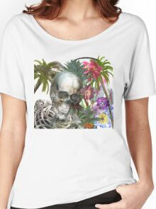 tropical skeleton Women's Relaxed Fit T-Shirt