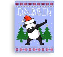 Dabbin Panda Christmas Canvas Print