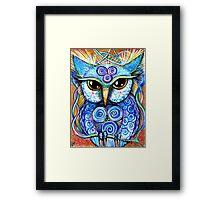 Spirit Owl, original illustration by Sheridon Rayment Framed Print
