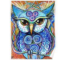 Spirit Owl, original illustration by Sheridon Rayment Poster