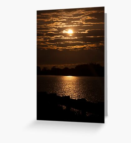 East Coast Sunset over a river Greeting Card