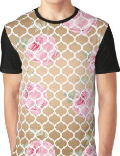 Rose Gold Trellis Graphic T-Shirt