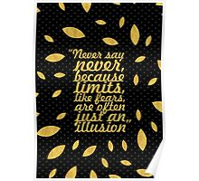 """Never say never... """"Michael Jorden"""" Inspirational Quote (Creative) Poster"""