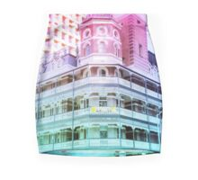 Pastel Brisbane City Down Under Bar Print Mini Skirt