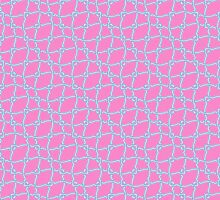 Pink with Blue Lacy Pattern by Greenbaby