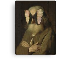Alter Mann mit Schmetterling Canvas Print