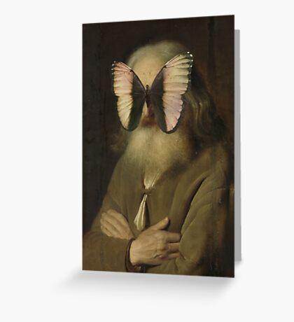 Alter Mann mit Schmetterling Greeting Card