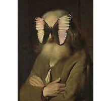 Alter Mann mit Schmetterling Photographic Print