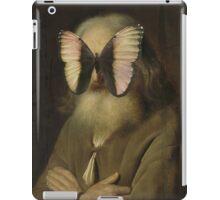 Alter Mann mit Schmetterling iPad Case/Skin